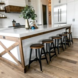 Smi Modern Farmhouse Kitchen And Dining Nook – Sita Montgomery within Farmhouse Kitchen